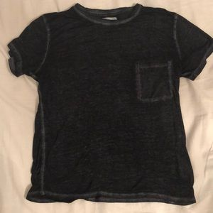 abercrombie and fitch grey/black tee